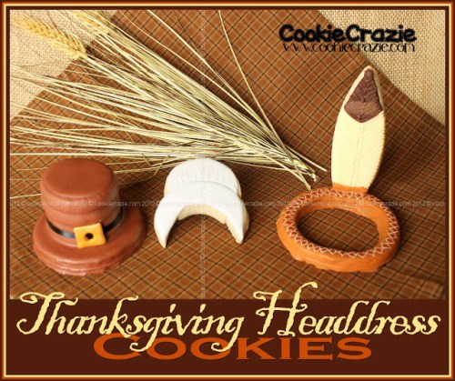 Thanksgiving Headdress Cookies & Tutorial by Cookie Crazie