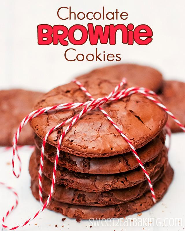 Chocolate Brownie Cookies Recipe by Sweet2EatBaking.com