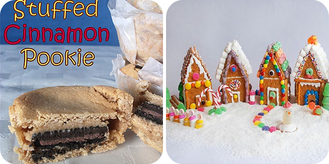 Oreo Stuffed Cinnamon Pookie & Graham Cracker Cottages