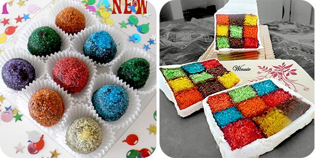 New Year Truffles | Rubik's Cube Cake