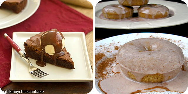 Chocolate Brownie Tart | Cinnamon Roll Donuts