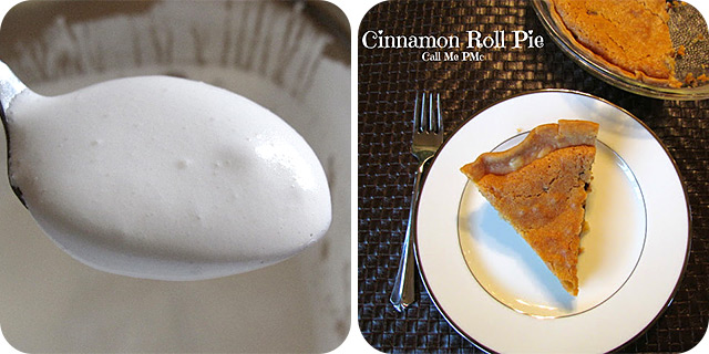 Homemade Marshmallow Fluff | Cinnamon Roll Pie