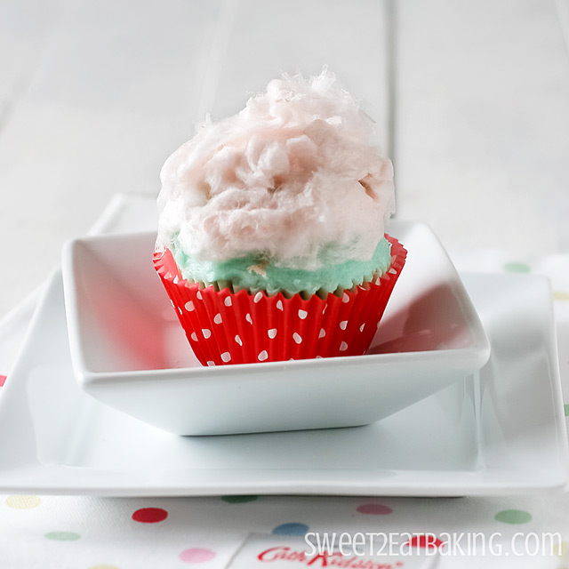 Candy Floss Cupcakes Recipe by Sweet2EatBaking.com