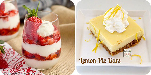 Strawberry Cheesecake Parfaits | Lemon Pie Bars