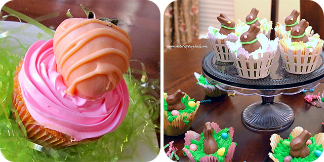 Pink Lemonade Cupcakes | Easter Bunny Cupcakes