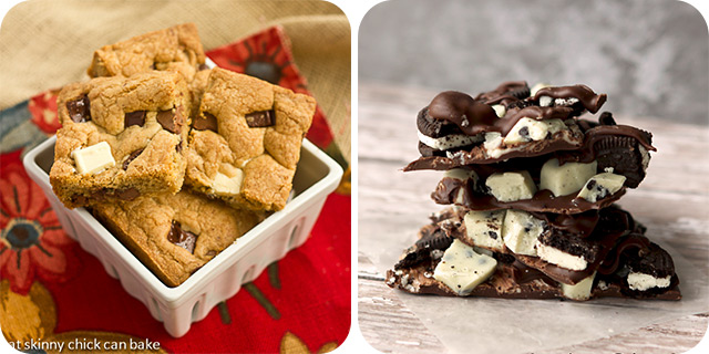 Brown Butter Chocolate Chunk Bars | Cookies and Crème Chocolate Bark