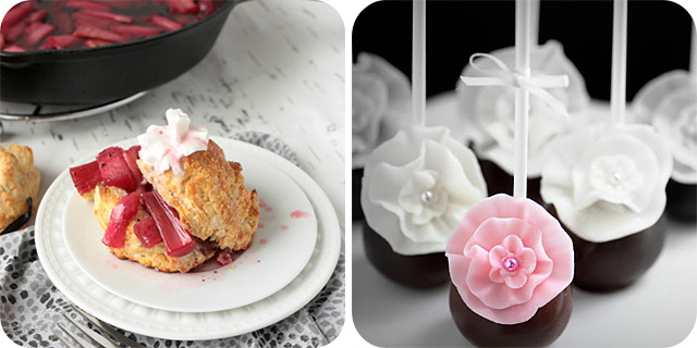 Roasted Rhubarb Shortcakes | Spring Flowers Cake Pops