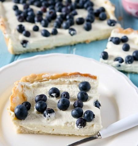 Blueberry and Lemon Curd Cream Tart Recipe