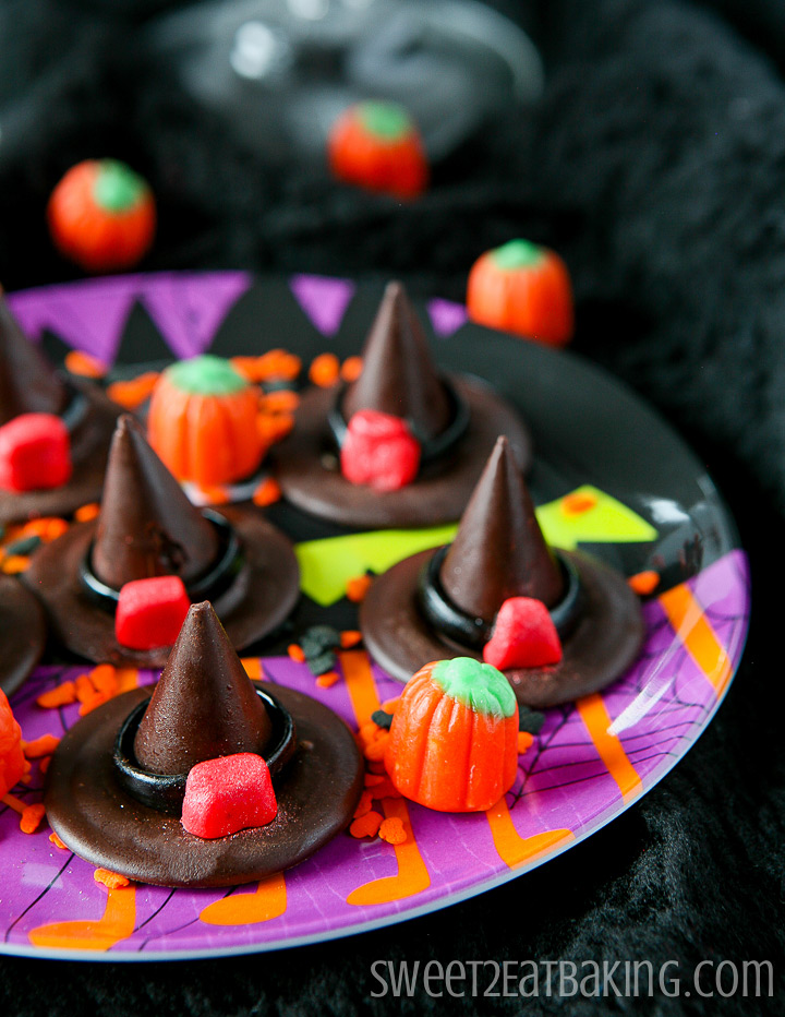 Chocolate Honeycomb Witches' Hats Recipe by Sweet2EatBaking.com