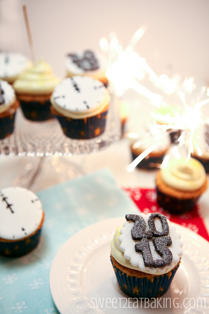 New Years Eve Cupcakes by Sweet2EatBaking.com