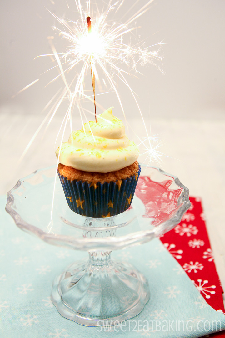 New Years Eve Sparkler Cupcakes by Sweet2EatBaking.com