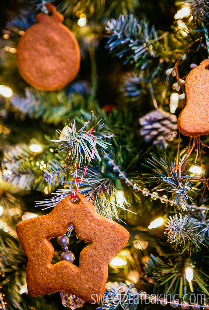 Speculoos Christmas Tree Decoration Cookies by Sweet2EatBaking.com #speculoos #cookies #christmas #recipe