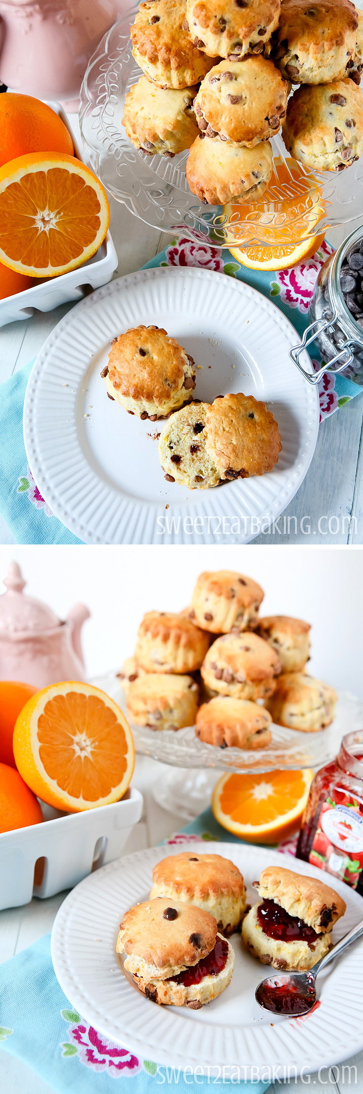 Chocolate and Orange Scones by Sweet2EatBaking.com