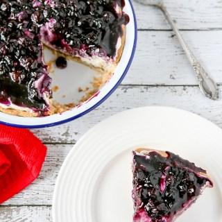Blueberry Cream Cheese Pie Recipe by Sweet2EatBaking.com