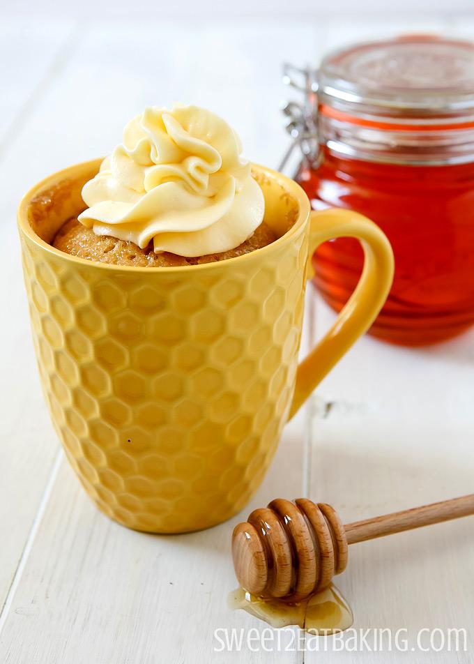 Honey Mug Cake Recipe by Sweet2EatBaking.com