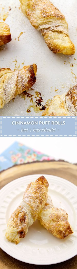Cinnamon Puff Pastry Rolls Recipe by Sweet2EatBaking.com