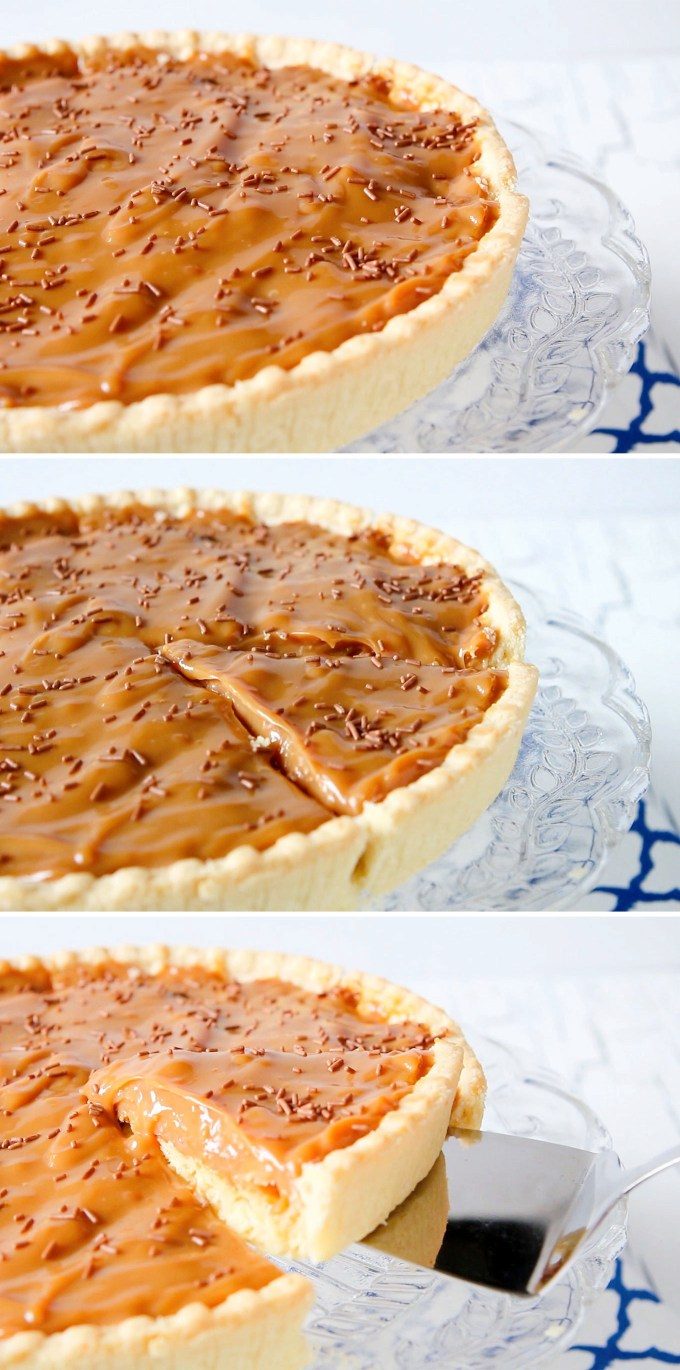 2-3 Ingredient Caramel Tart Recipe by Sweet2EatBaking.com