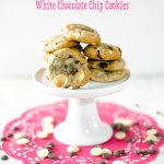 Strawberry, Dark & White Chocolate Chip Cookies Recipe By Sweet2EatBaking.com | These cookies have a little something for everyone; fruit, nuts and chocolate. A fruity punch, nutty crunch and creamy chocolate.
