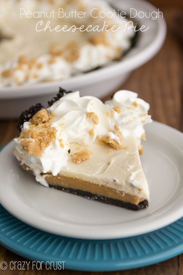 Peanut Butter Cookie Dough Cheesecake Pie Recipe