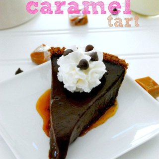 Gooey Chocolate Caramel Tart Recipe on Sweet2EatBaking.com