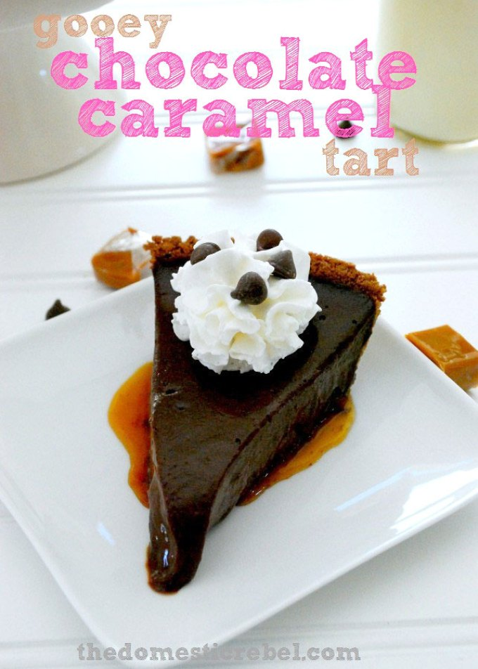 Gooey Chocolate Caramel Tart Recipe by Sweet2EatBaking.com