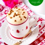 不烤 Gingerbread Mug Cake Recipe by Sweet2EatBaking.com