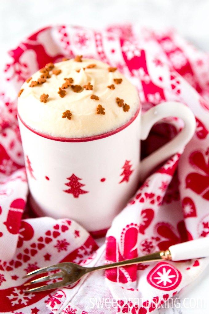 Gingerbread Mug Cake Recipe by Sweet2EatBaking.com