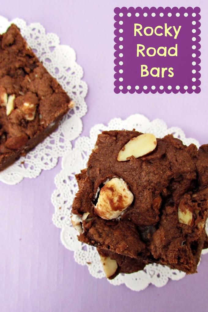 Rocky Road Bars Recipe on Sweet2EatBaking.com