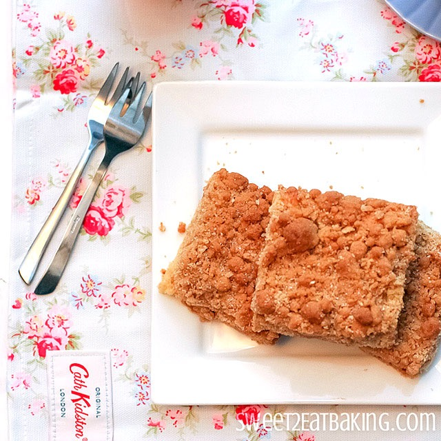 New York Crumb Cake Recipe by Sweet2EatBaking