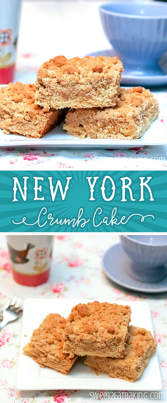 New York Crumb Cake Recipe By Sweet2EatBaking.com |