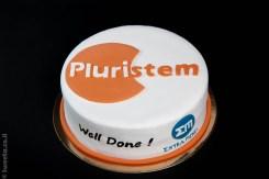 עוגה עם לוגו חברה לכבוד השקת מוצר extra mind pluristem