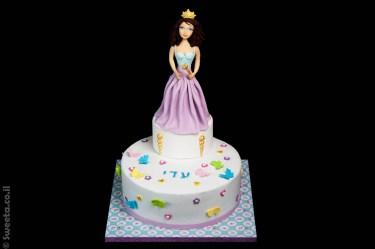 נסיכה מעוצבת בבצק סוכר פיסול