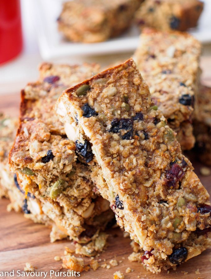 Cakey Oat Fruit and Seed Bars