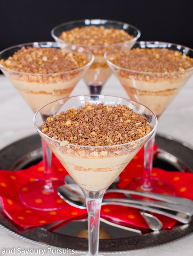Mascarpone Espresso Cream and Amaretti Parfaits