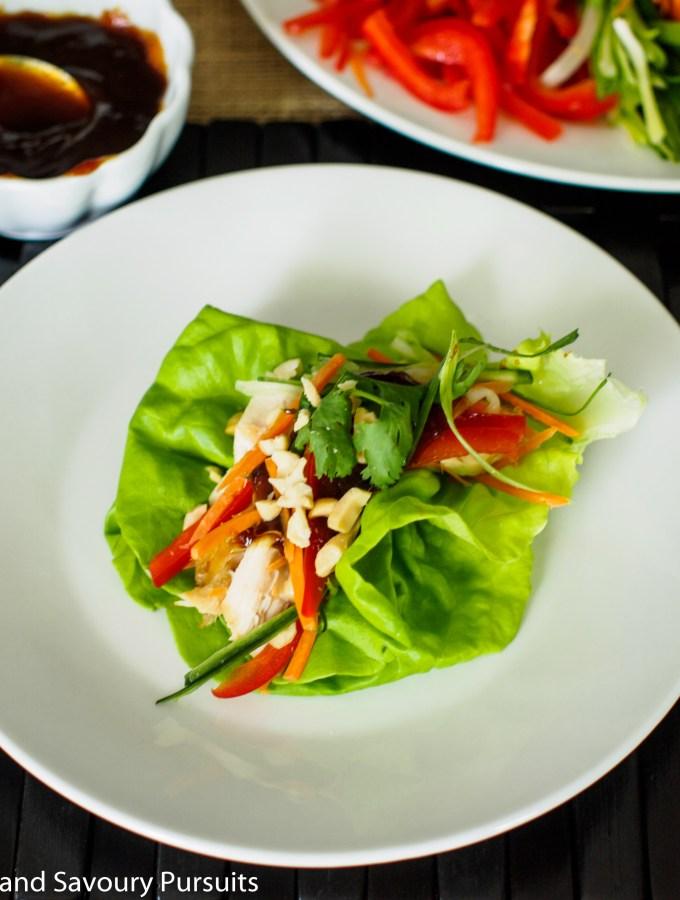 Chicken and Vegetable Lettuce Bundles