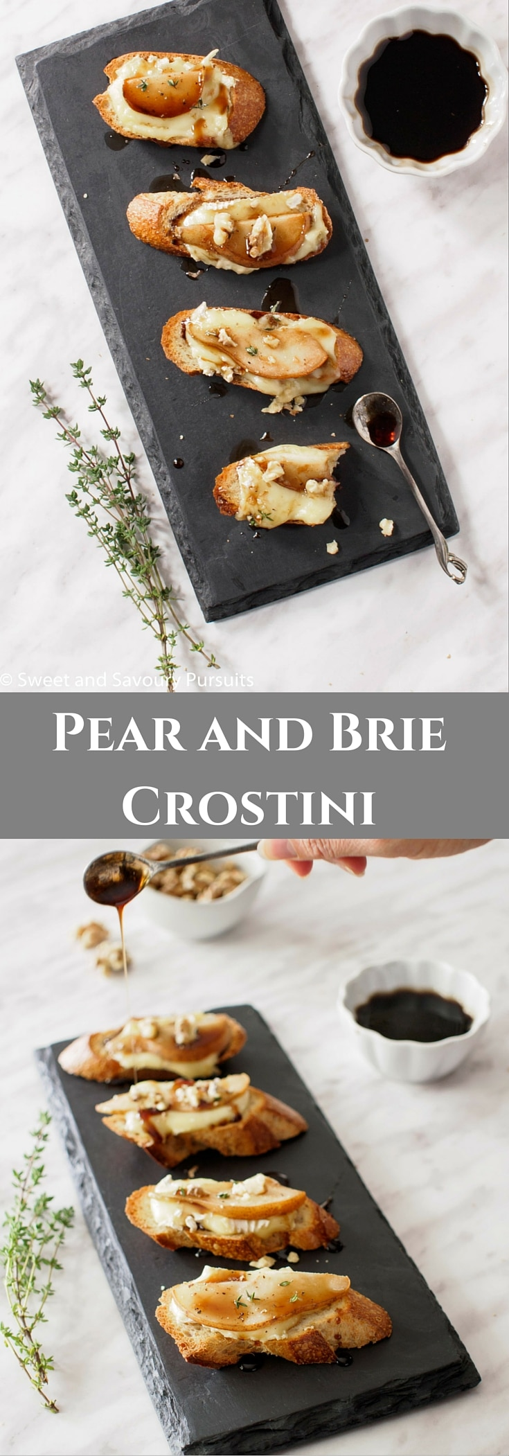 Built on the classic combination of fruit, cheese and nuts, this Pear and Brie Crostini is a delicious, elegant and simple to make appetizer