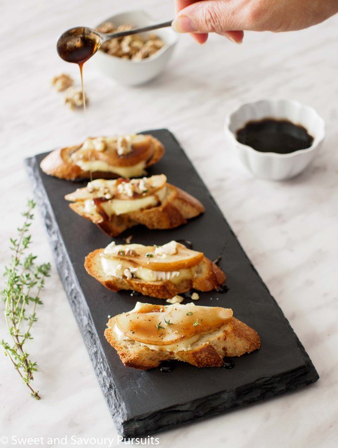 Pear and Brie Crostini