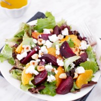 Roasted Beet and Orange Salad with Citrus Vinaigrette