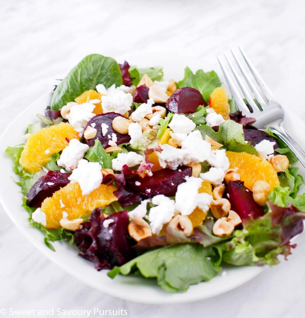 Roasted Beet and Orange Salad with Citrus Vinaigrette