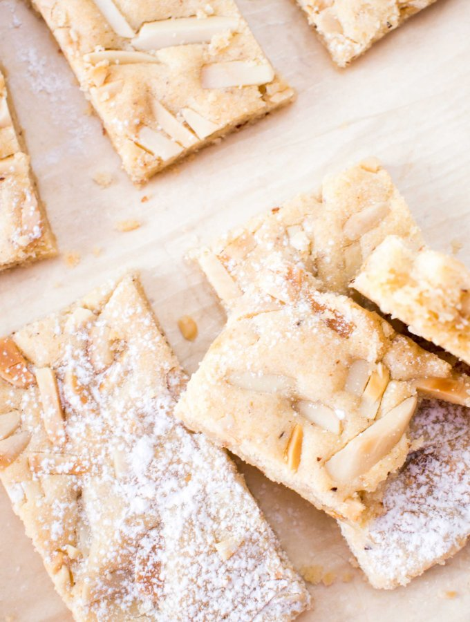 Chewy Almond Marzipan Bars