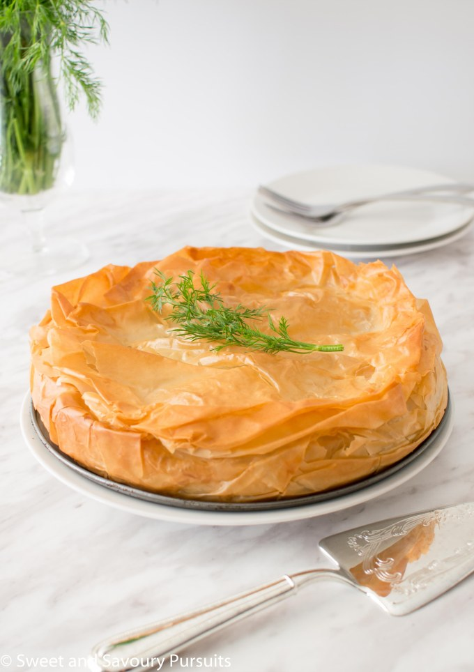 One Easy Spanakopita pie.