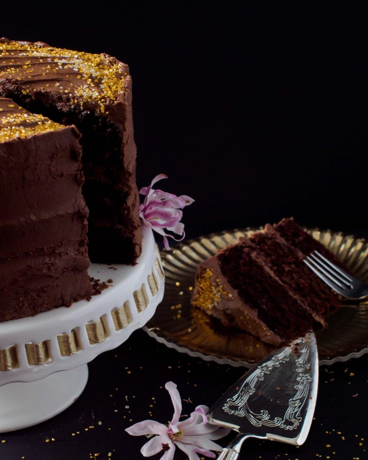 A three layer Chocolate Celebration Cake