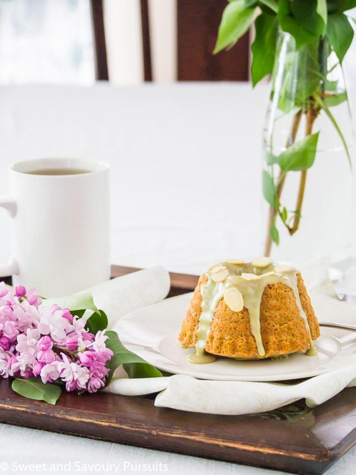 Almond and Matcha Bundt Cakes