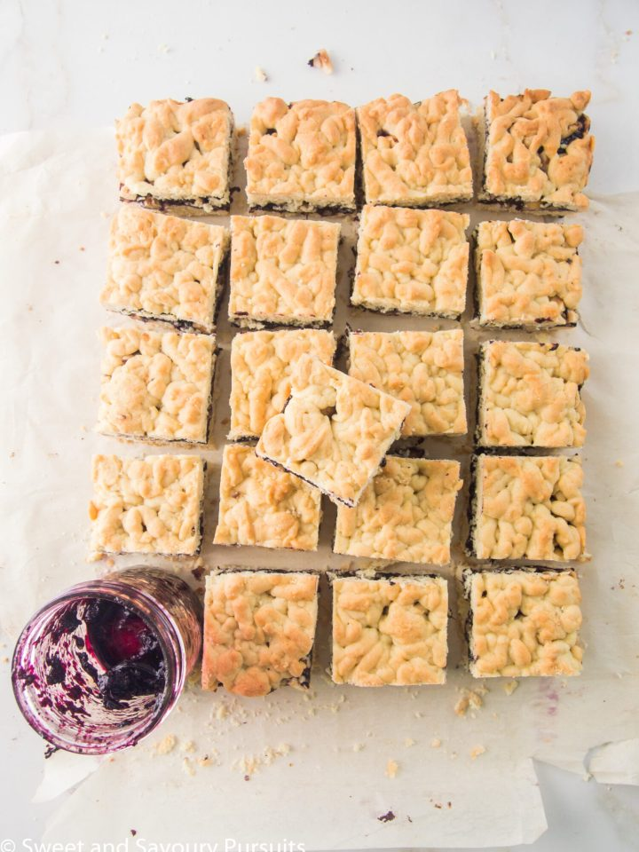 Blueberry Jam and Hazelnut Bars