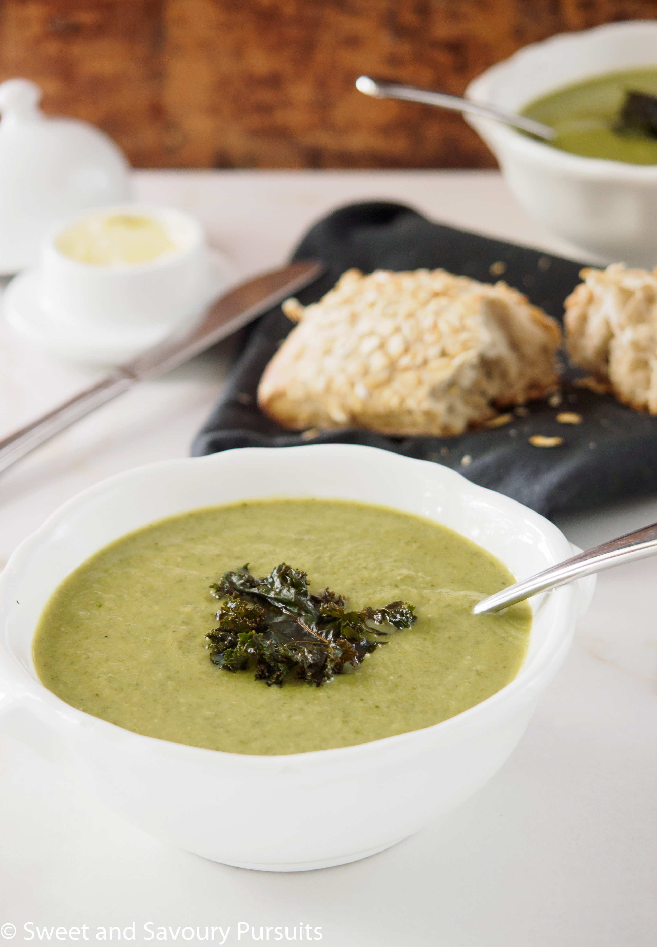 This Cauliflower, Kale and Leek Soup is nutritious, delicious and simple to make. It's an excellent soup for warming you up on those chilly days.