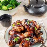 Sticky Hoisin-Soy Chicken Drumsticks