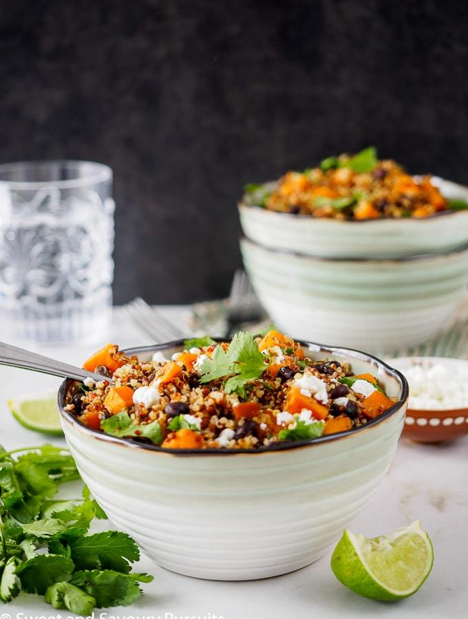 Sweet Potato and Black Bean Quinoa bowl