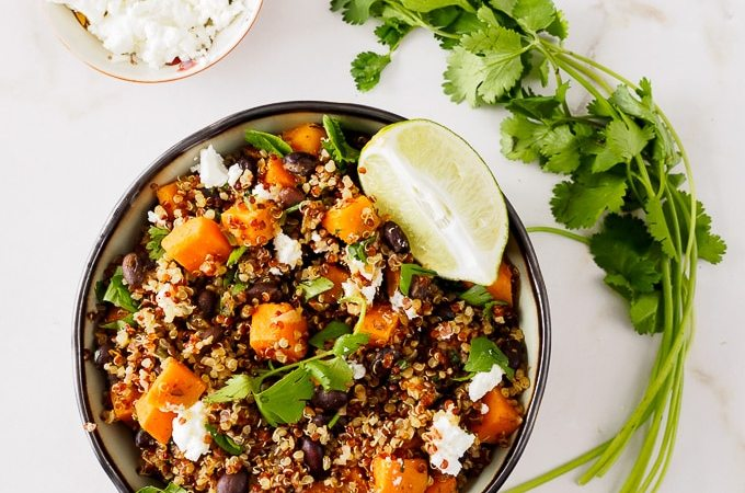 Sweet Potato Black Bean Quinoa