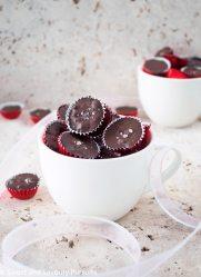 Mini chocolate quinoa bites in large mug.