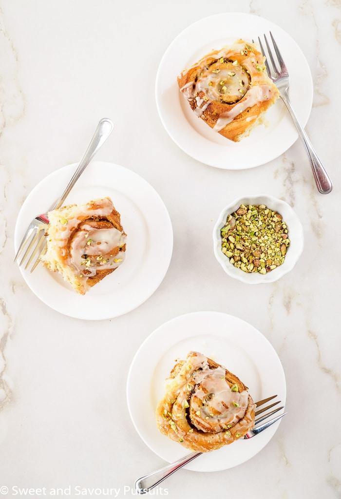 Sweet Tahini and Pistachio Cinnamon Rolls